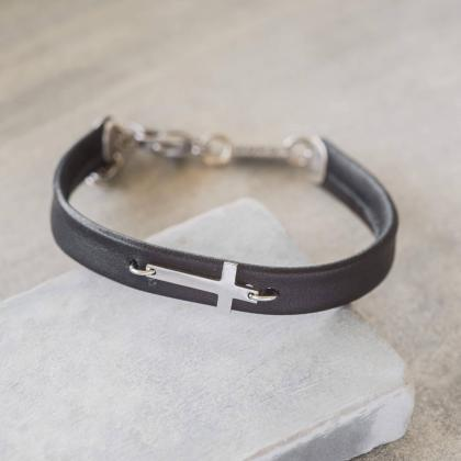 Men's Cross Bracelet - Men's Religi..