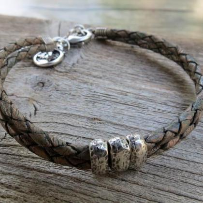 Men's Bracelet - Men's Leather Brac..