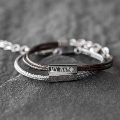 Men's Engraved Bracelet - Men's Per..