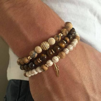 Men's Bracelet Set - Set of 3 Brace..