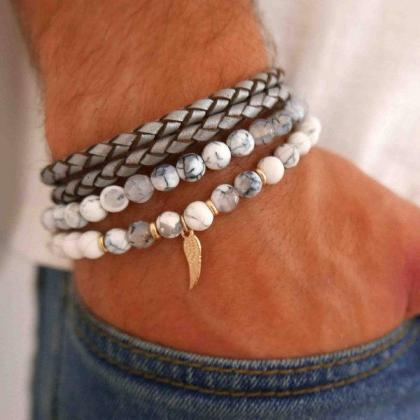 Men's Bracelet Set - Set of 2 Brace..