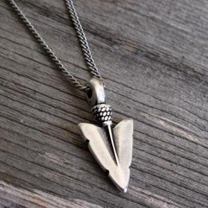 Men's Necklace - Blackend Silver Pl..