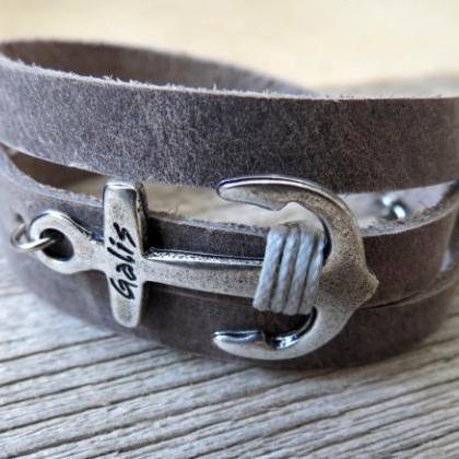Men's Bracelet - Men's Anchor Brace..