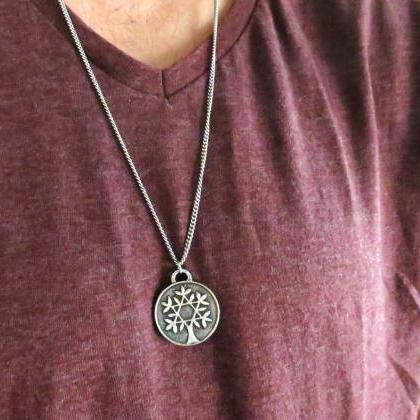 Men Necklace - Men Coin Necklace - ..