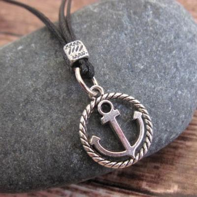 Men's Necklace - Men's Anchorr Necklace - Men's Silver Necklace - Mens Jewelry - Necklaces For Men - Jewelry For Men - Gift for Him