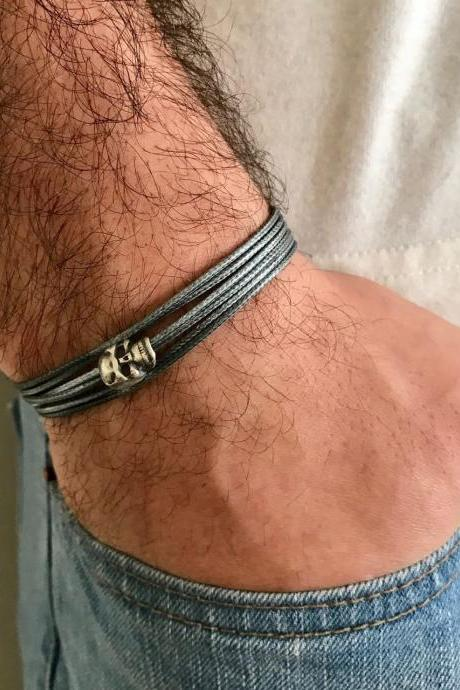 Men's Bracelet - Men's Skull Bracelet - Men's Vegan Bracelet - Men's Jewelry - Men's Gift - Boyfrienf Gift - Husband Gift - Gift for him - Present For Men - Gift For Dad - Male Jewelry - Male Bracelet