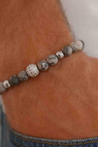 Men's Bracelet - Men's Beaded Bracelet - Men's Gemstone Bracelet - Mens Jewelry - Men's Gift - Husband Gift - Boyfriend Gift - Present For Men - Gift For Dad - Male Jewelry - Male Bracelet