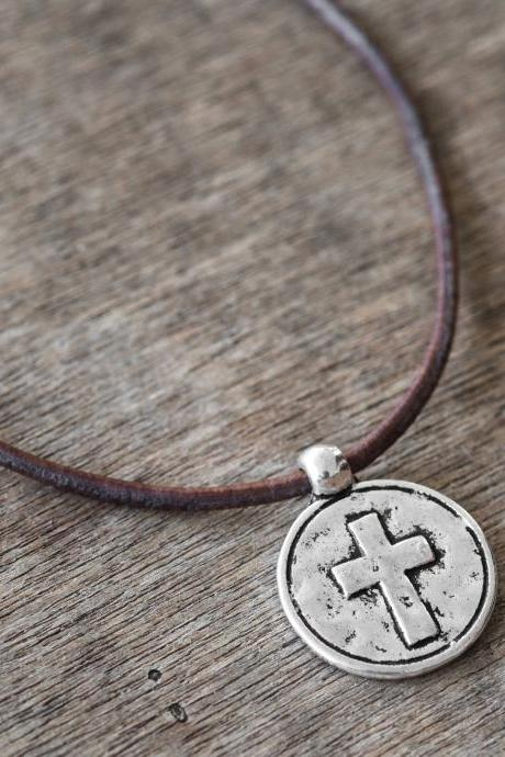 Men's Cross Pendant - Men's Cross Necklace - Men's Christian Necklace - Men's Religious Necklace - Men's Cross Jewelry - Christian Jewelry