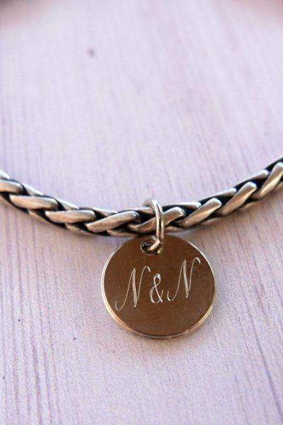 Men's Personalized Bracelet - Men's Engraved Bracelet - Customized Men Bracelet - Men's Initial Bracelet - Men's Personalized gift