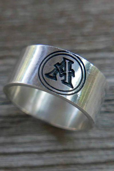 Men's Ring - Men's Personalized Ring - Engraved Men's Ring - Customized Men Ring - Men's Initials Ring - Men's Coordinates Ring - Custom