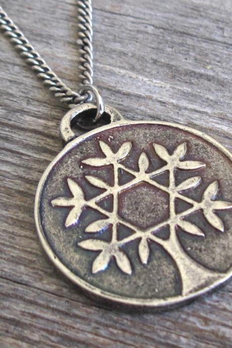 Men's Necklace - Men's Silver Necklace - Men's Tree Of Life Necklace - Men's Coin Necklace - Men's Jewelry - Men's Gift - Men's Pendant - Boyfriend Gift - Husband Gift - Male Jewelry