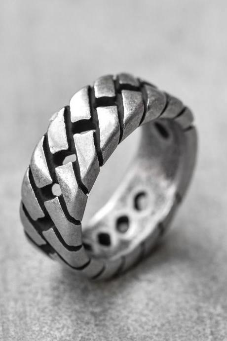 Men's Ring - Men's Silver Ring - Men's Stainless Steel Ring - Men's Silver Band - Men's Jewelry - Men's Gift - Husband Gift - Boyfriend