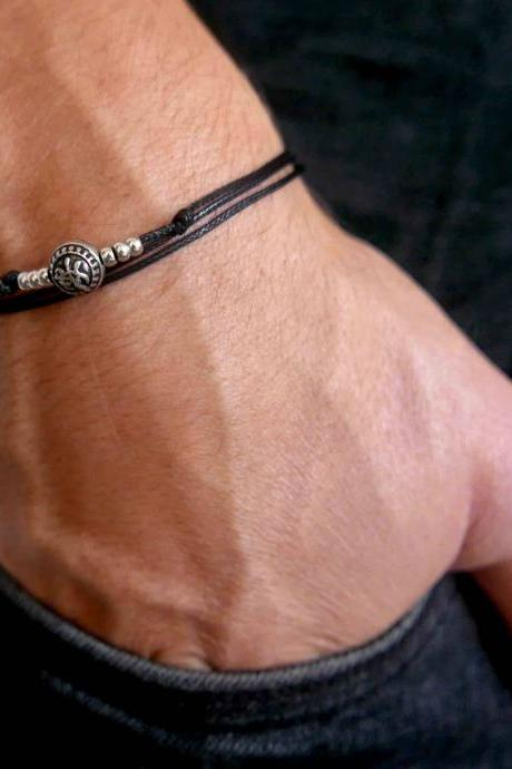 Men's Bracelet - Men's Beaded Bracelet - Men's Vegan Bracelet - Men's Jewelry - Men's Gift - Boyfrienf Gift - Husband Gift - Gift for him - Present For Men - Male Jewelry - Male Bracelet - Friendship Jewelry
