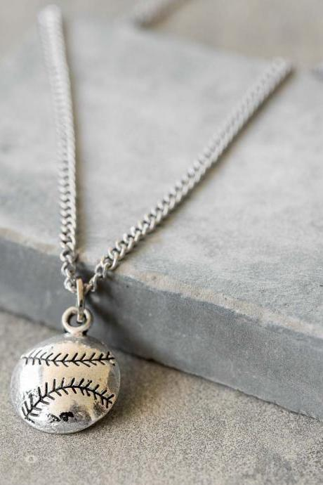 Men's Basball Necklace - Men's Sports Necklace - Men's Baseball Pendant - Men's Pendant - Men's Jewelry - Men's Gift - Boyfriend Gift - Guys