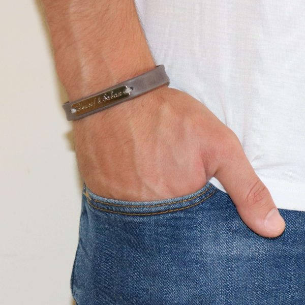 Men's Personalized Bracelet - Men's Engraved Bracelet - Customized Men Bracelet - Men's Initial Bracelet - Men's Coordinates Bracelet