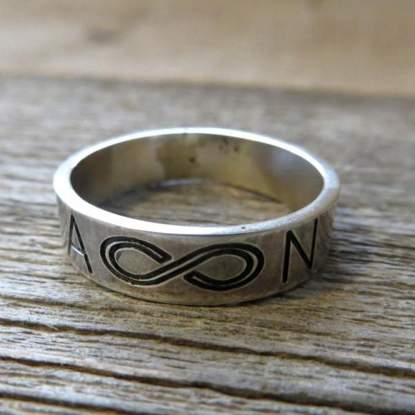 Men's Personalized Ring - Men's Engraved Ring - Customized Men Ring - Men's Initial Ring - Men's Personalized Gift