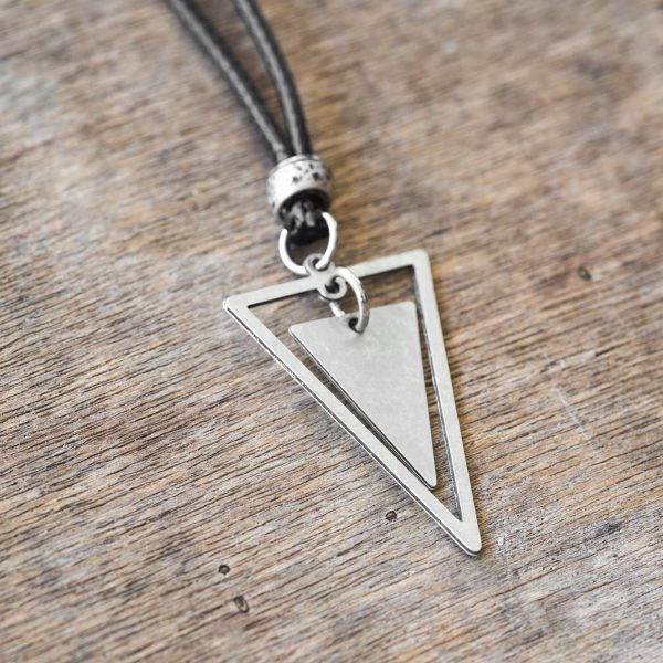 Men's Necklace - Men's Triangle Necklace - Men's Silver Necklace - Mens Jewelry - Necklaces For Men - Jewelry For Men - Gift for Him