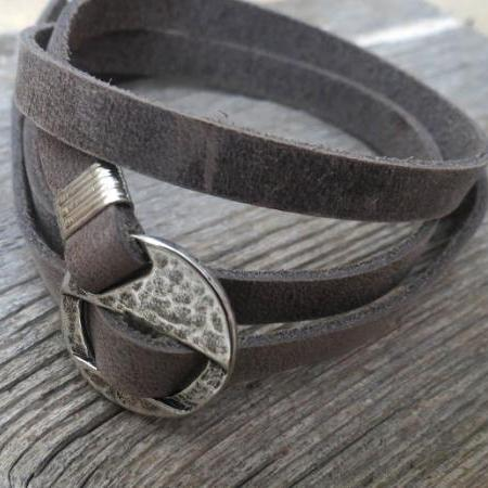 Men's Bracelet - Men's Geometric Bracelet -  Men's Leather Bracelet - Men's Jewelry - Men's Gift - Boyfrienf Gift - Husband Gift - Gift for him