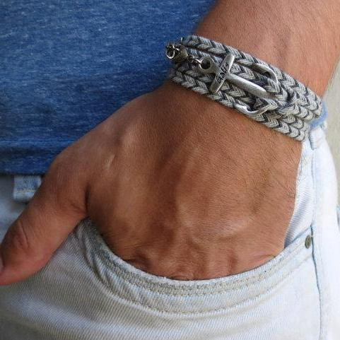 Men's Bracelet - Men's Anchor Bracelet - Men's Nautical Bracelet - Men's Jewelry - Men's Gift - Boyfrienf Gift - Husband Gift - Gift for himMen's Bracelet - Men's Anchor Bracelet - Men's Nautical Bracelet - Men's Vegan Bracelet - Men's Jewelry - Men's Gift - Boyfrienf Gift - Husband Gift - Gift for him - Gift For Dad - Present For Men - Male Bracelet - Male Jewelry