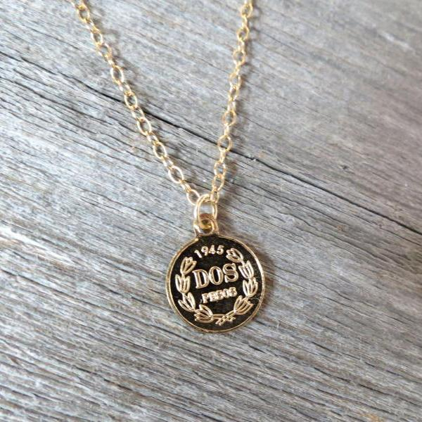 Men Necklace - Men Gold Necklace - Men Coin Necklace - Men Jewelry - Men Gift - Boyfriend gift - Husband Gift - Present Fo Men - Male Jewelry - Male Necklace