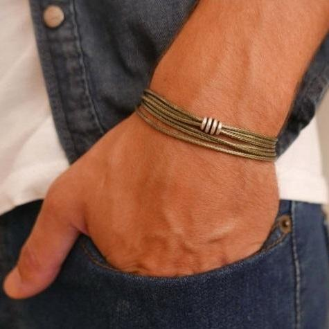 Men's Bracelet - Men's Beaded Bracelet - Men's Vegan Bracelet - Men's Jewelry - Men's Gift - Boyfrienf Gift - Husband Gift - Gift for him - Present For Men - Gift For Dad - Male Jewelry - Male Bracelet