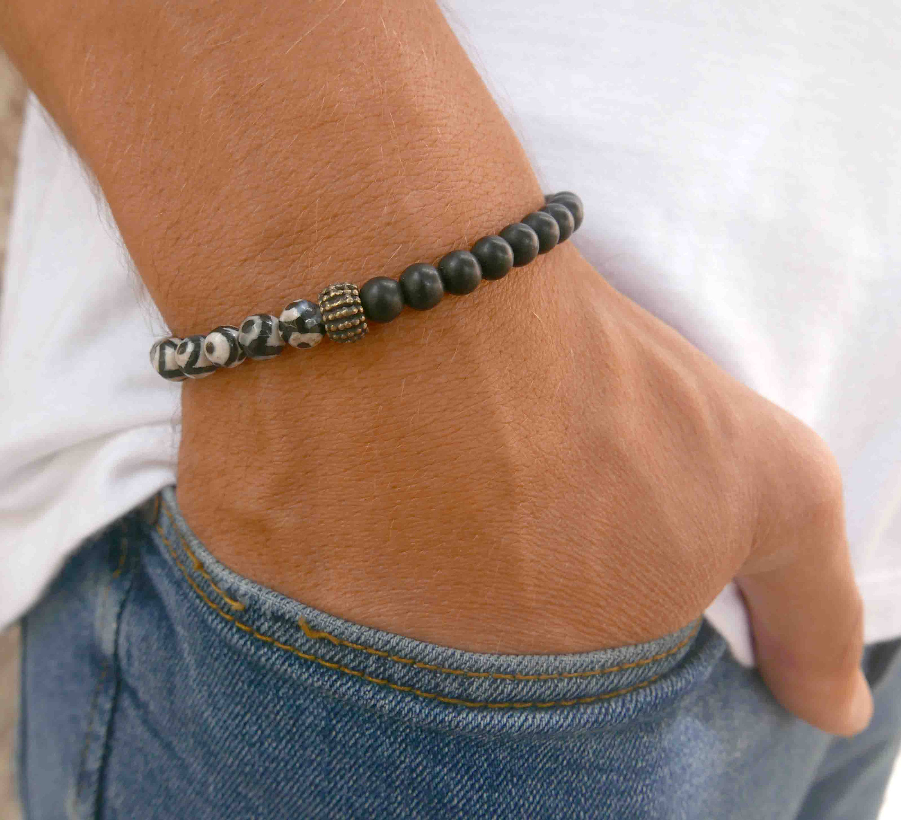 chunky in link bracelet curb product s male jewellery identity steel stainless urban men mens